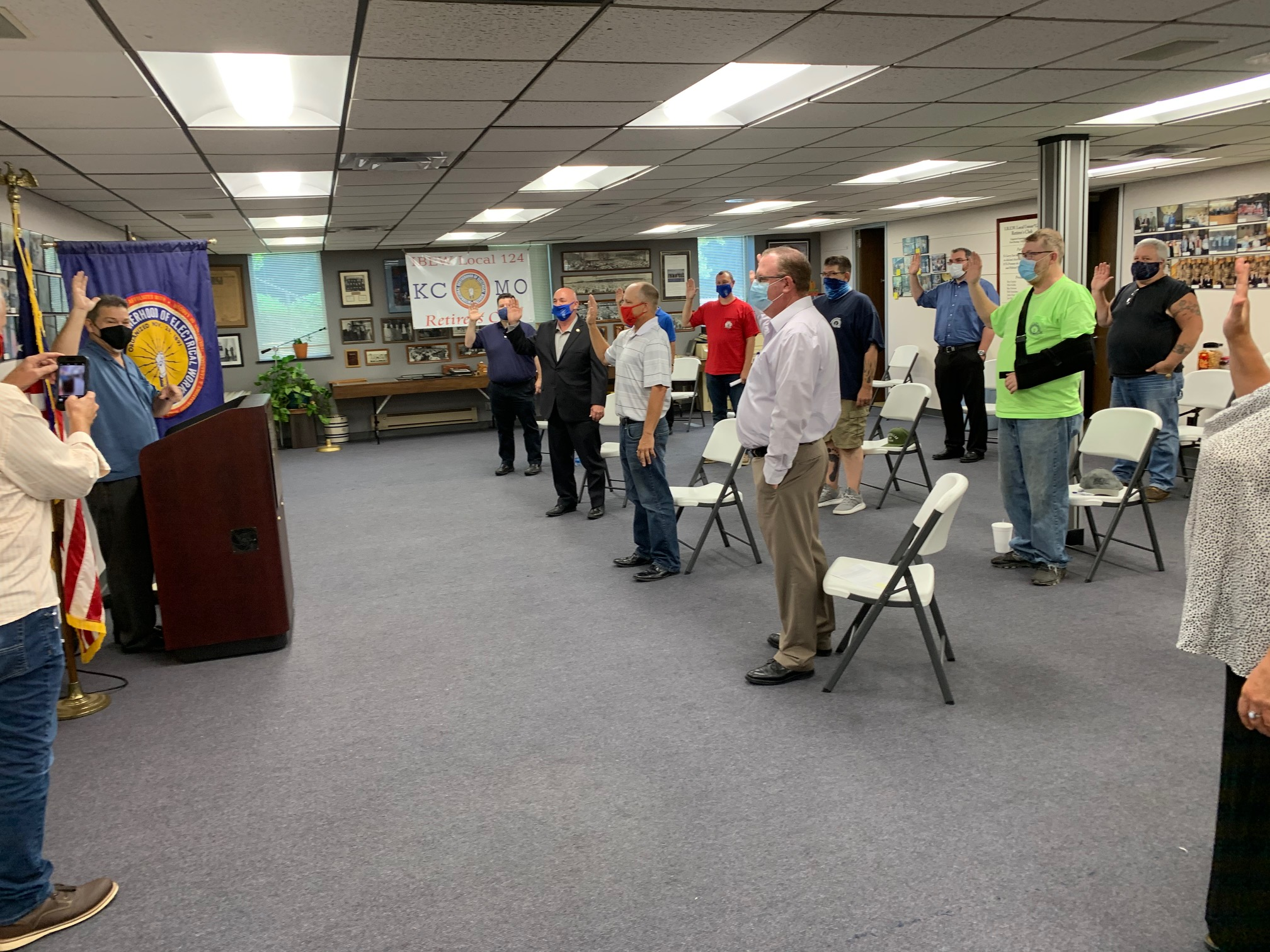 IBEW LOCAL 124 OFFICERS ARE SWORN IN
