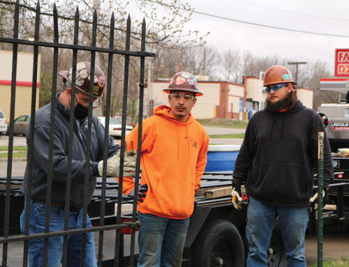 Ironworkers Local 10 Apprentices Give Back at Elmwood Cemetery