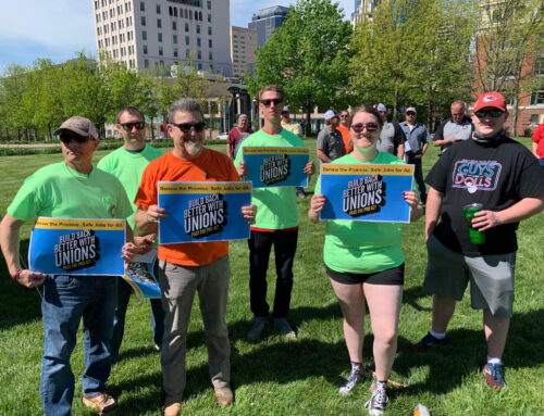 LABOR RALLIES IN FAVOR OF PRO ACT
